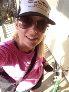 Alissa from San Francisco stylin' hard in her Elevation Trail hat.