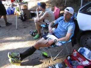 Tim on the verge of DNF at Pine to Palm 100
