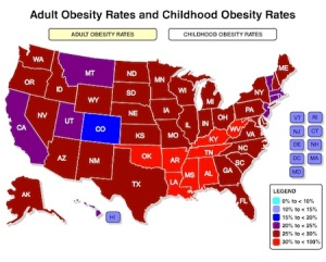 Map-of-Obesity-rates