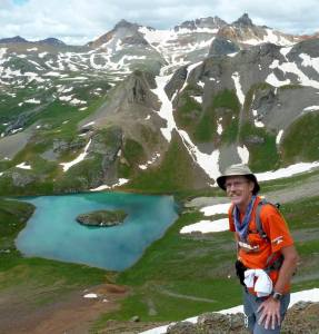 Blake at Island Lake - Hardrock 100 course 2014